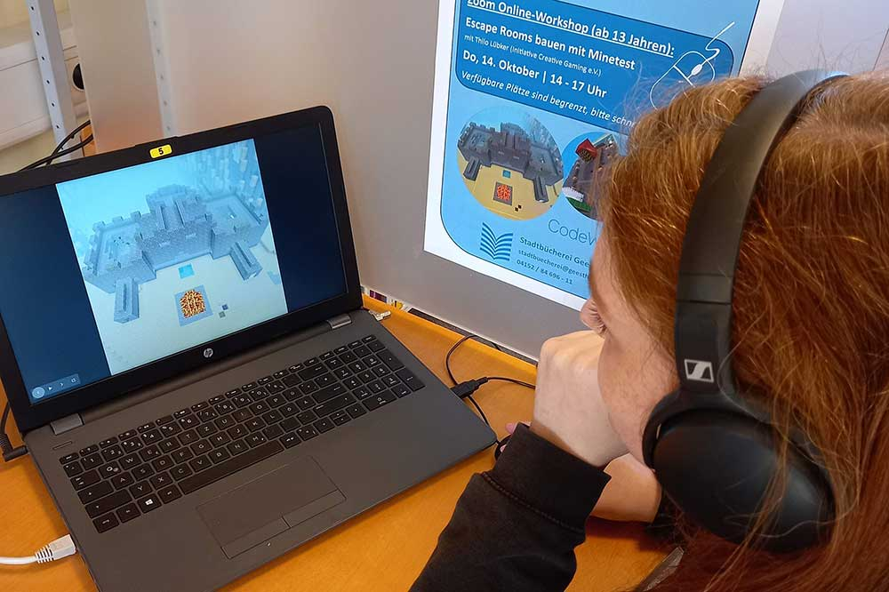 Video game workshop for teens during the fall break - LOZ-News