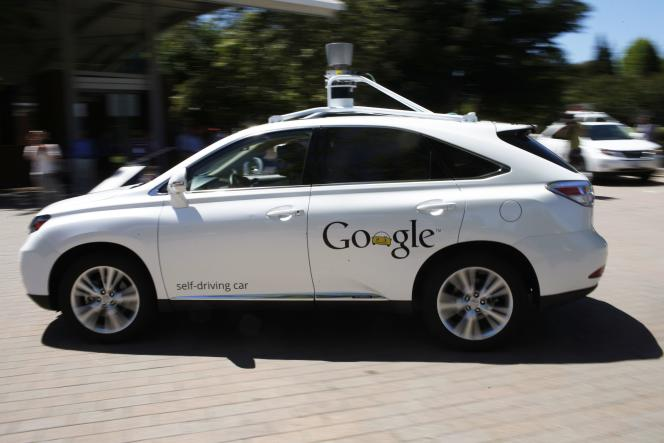 An autonomous car developed by Google on May 13, 2014 in Mountain View.