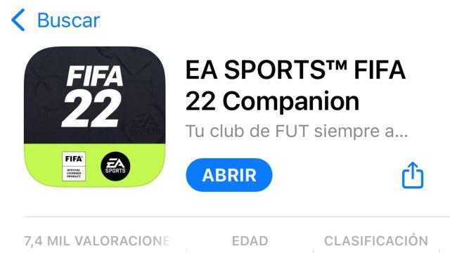 FIFA 22 EA Sports Companion App