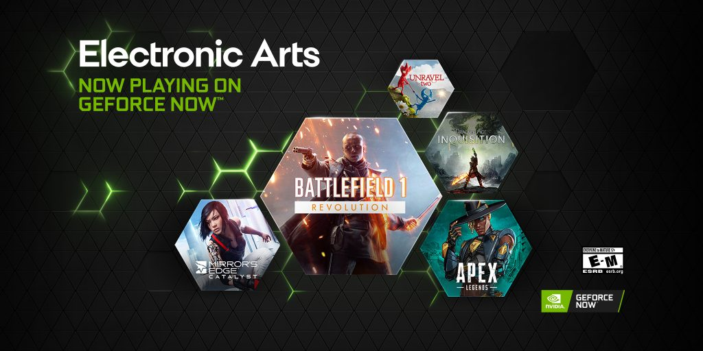 Giochi EA in streaming su GeForce NOW