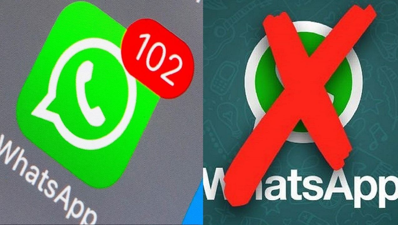 Goodbye to WhatsApp forever.  Within days, the WhatsApp application was permanently suspended on these phones.