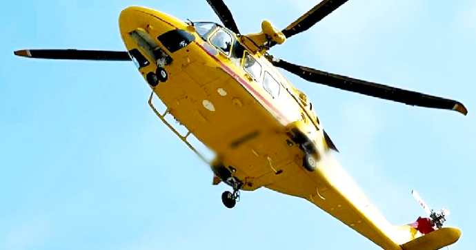 worker electrocuted by electric shock.  Helicopter rescue transported to Bari's Great Burns Center -
