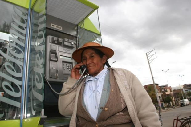 Public telephone in rural areas (Photo: Osiptel)