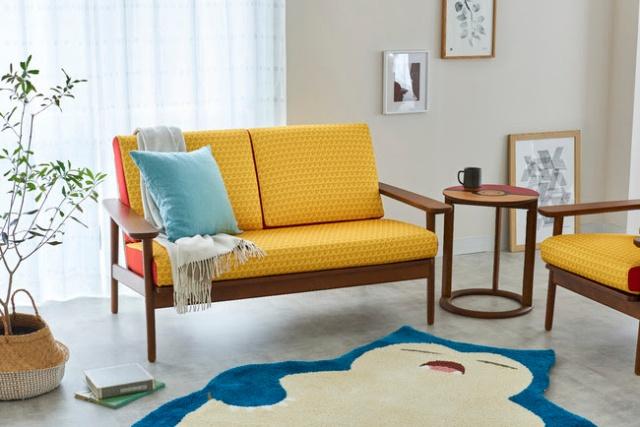 Pikachu sofa and Pokéball table