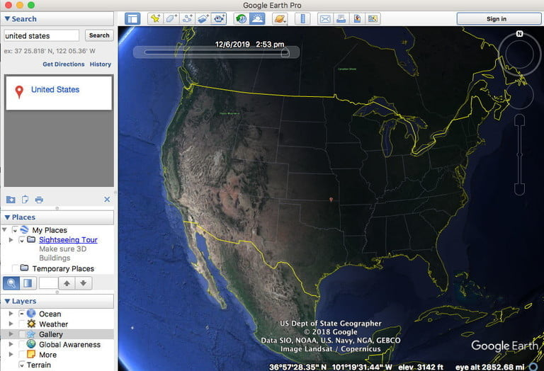 Discover the functions of Google Earth Pro for free