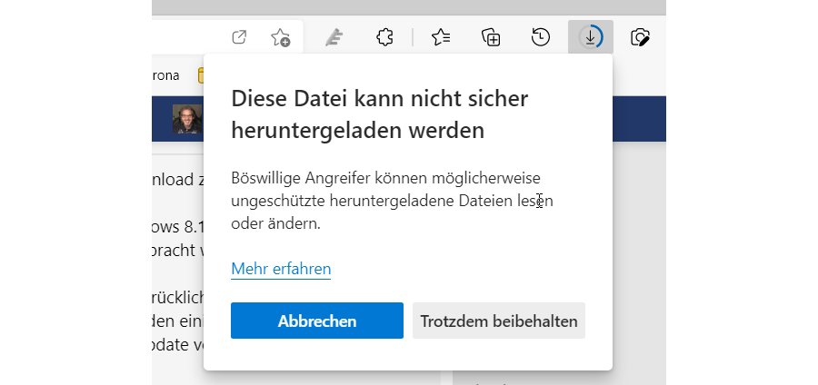 Unblock Blocked HTTP Download in Edge - Step 2